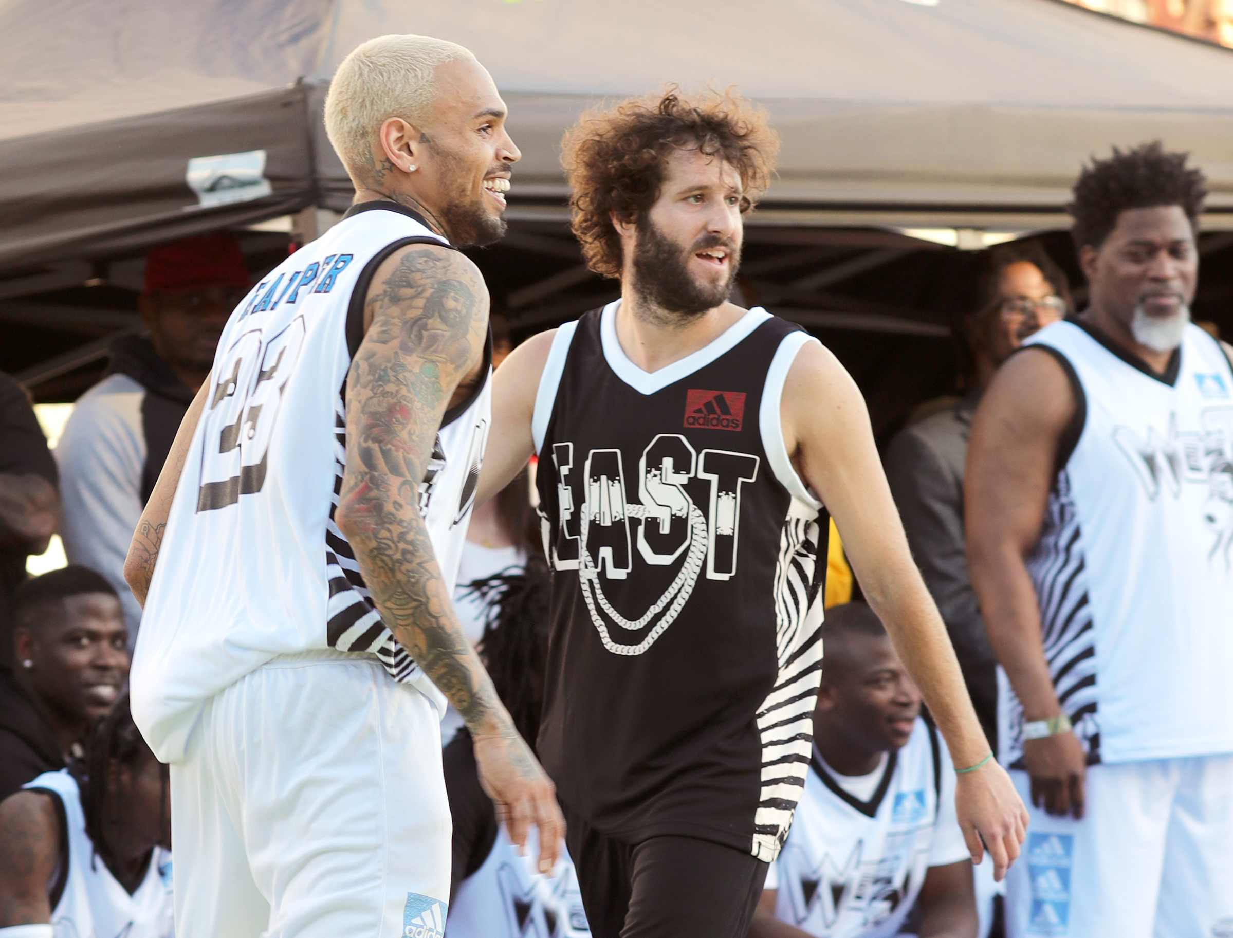 new product 15316 f2fb1 Lil Dicky Recruits Joel Embiid For All-Star Music Video ...