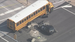 1 Dead, 2 Injured After SUV Slams Into Side Of School Bus In Lionville, Sources Say