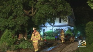 Firefighters Battle Blaze In Havertown