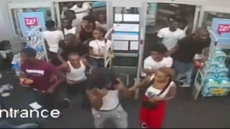 WATCH: Surveillance Video Shows Group Of About 60 Teens Vandalizing