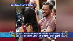 Cast Of 'Dispatches From Elsewhere' Spotted Filming In Rittenhouse Square