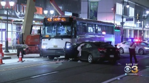 2 People Injured After New Jersey Transit Bus, Car Collide In Center City