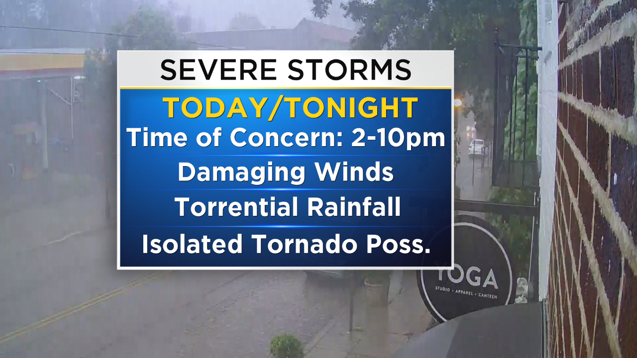Philadelphia Weather: Severe Storm Threat Expected To Bring Heavy
