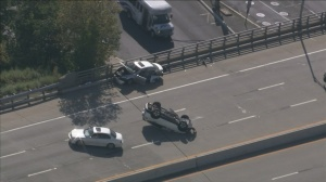 Portion Of I-676 Closed In Camden Due To Overturned Vehicle
