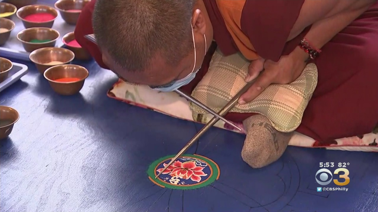 Tibetan Buddhist Monks Show Off Painstaking Work With Powerful Message At Bucks County Community College