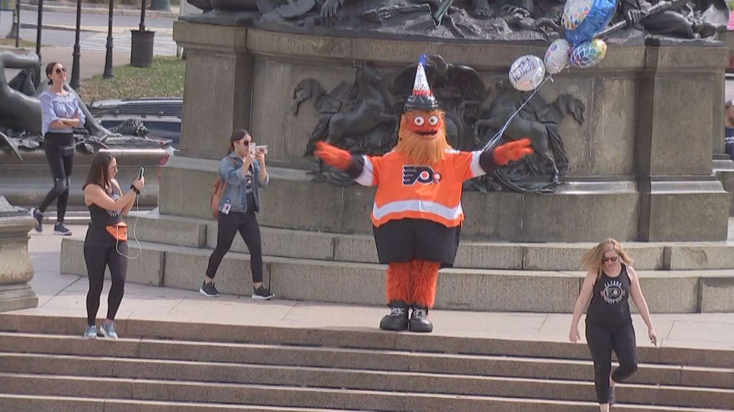 Gritty Celebrates First Birthday With The People Of Philadelphia