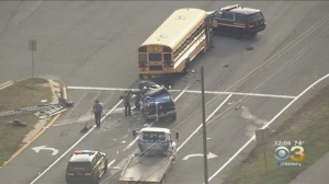 Driver Involved In School Bus Collision In Delaware Has Died