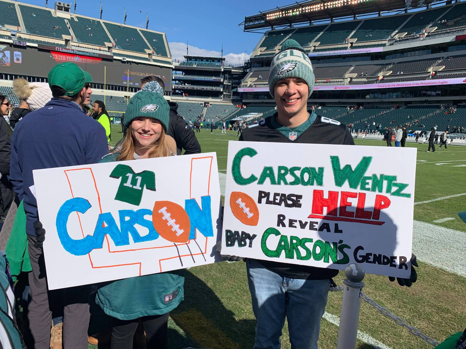 Bloomsburg Couple Hoping To Have Carson Wentz Help Reveal Gender