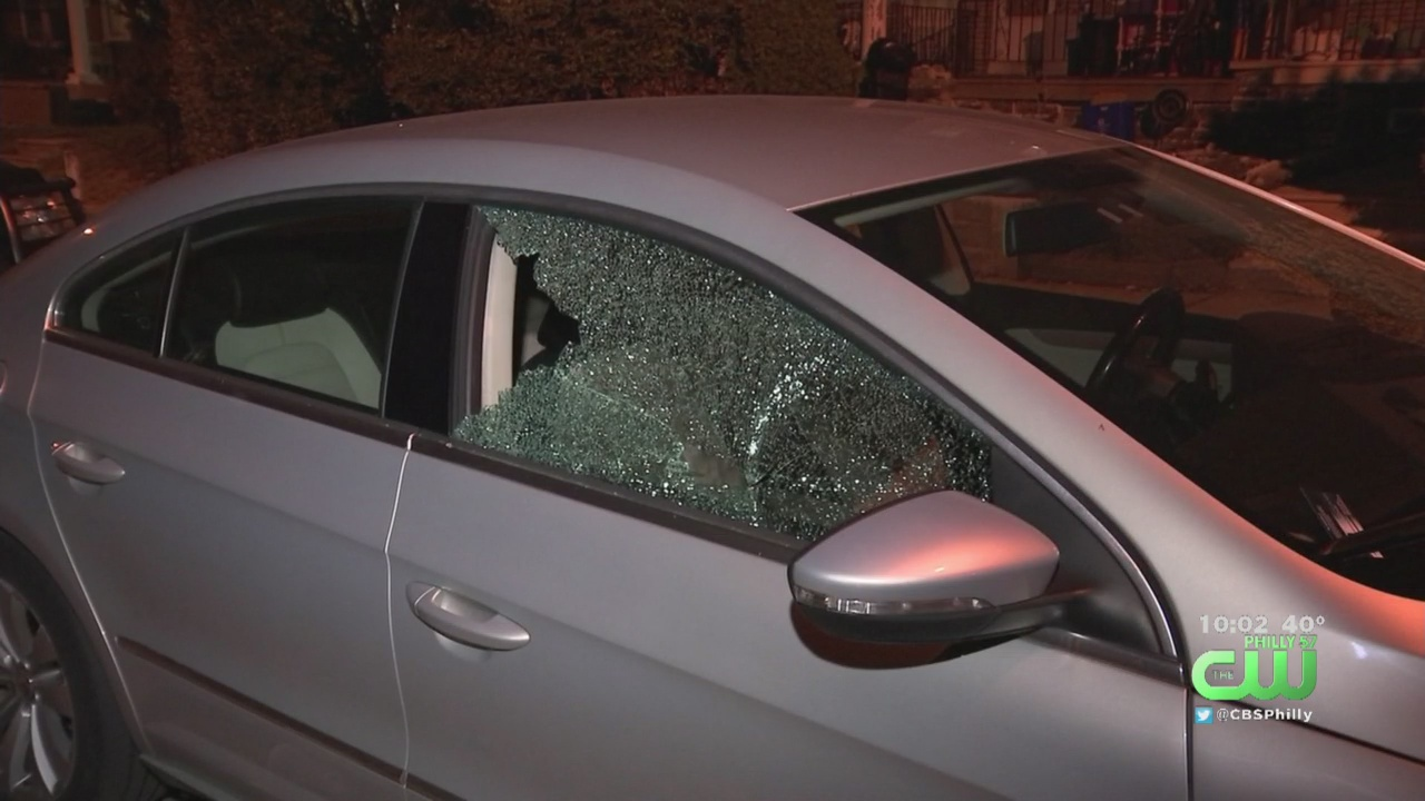 Dozens Of Neighbors Furious After Vandals Bust Windows On Cars In Olney - CBS Philly