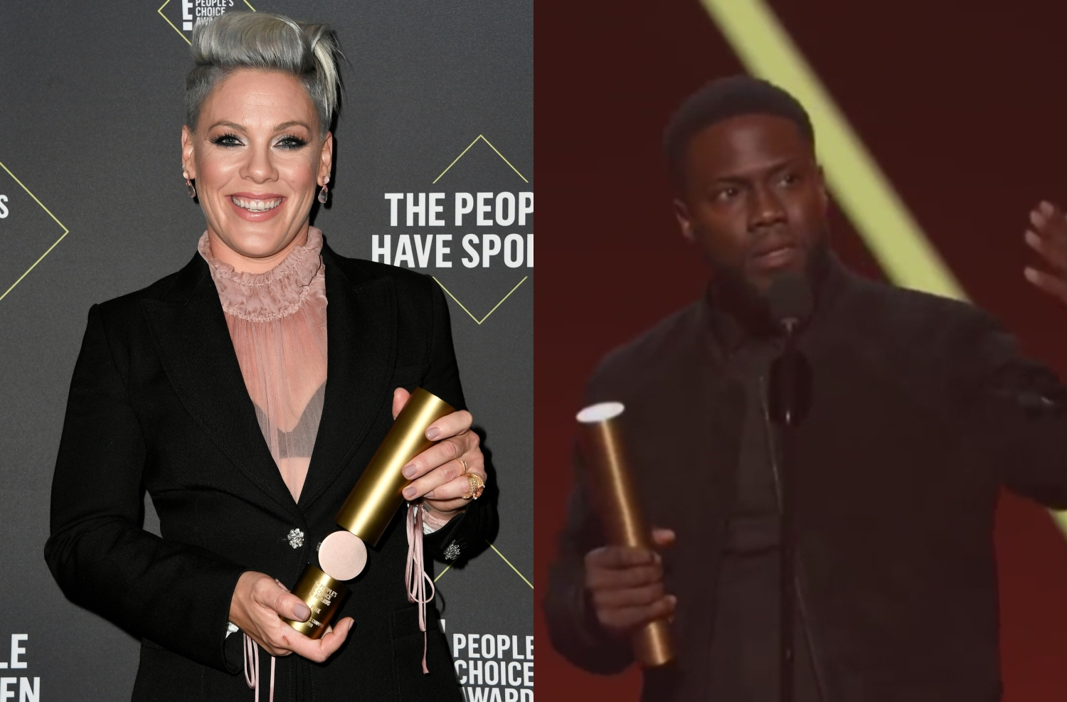 Kevin Hart, Pink Honored With People's Choice Awards - CBS Philly
