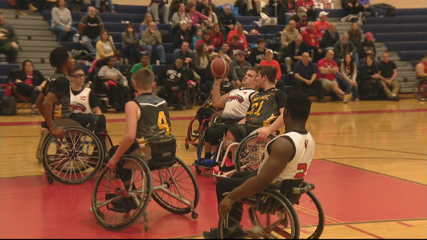 Young Athletes Partake In 22nd Annual Katie Kirlin Junior Wheelchair Basketball Tournament In West Philadelphia