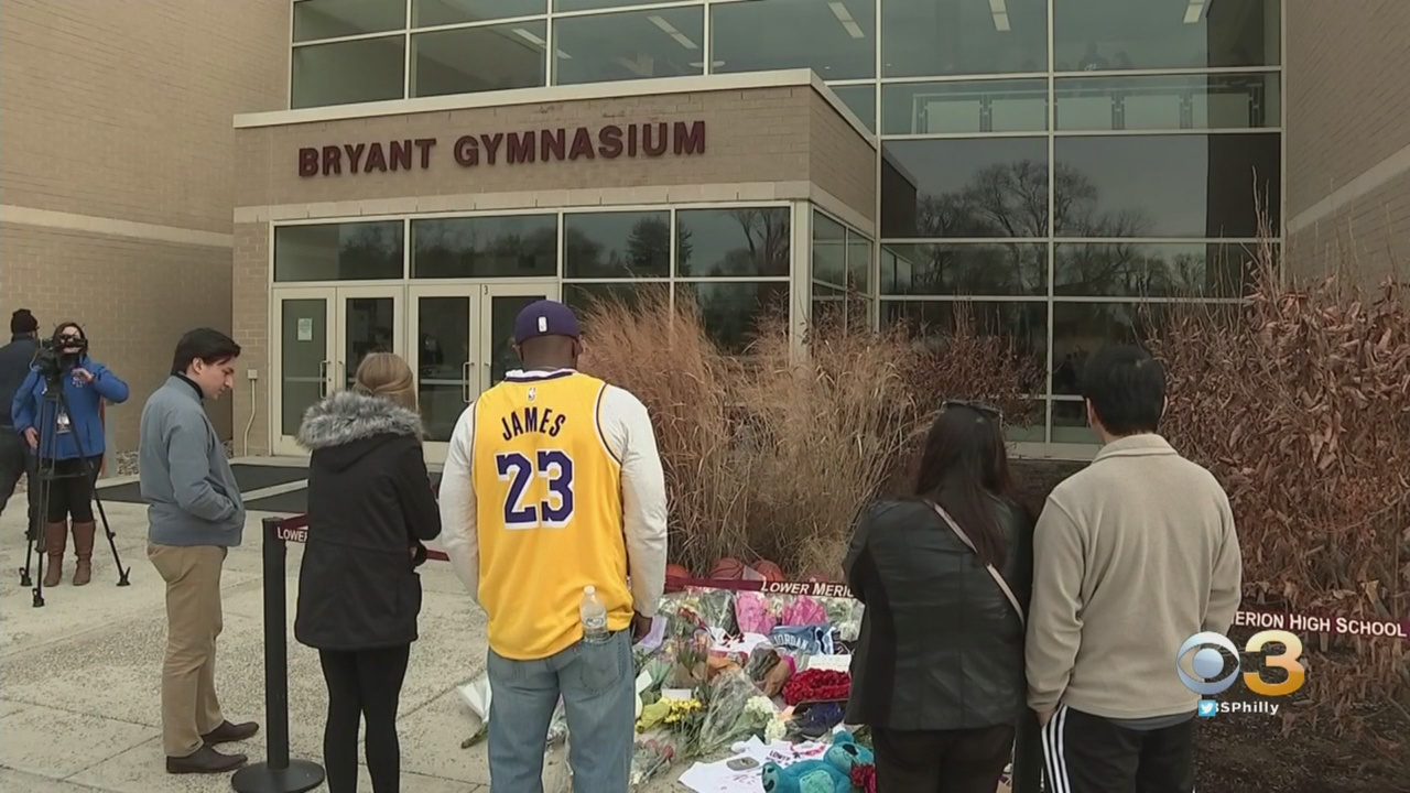 Growing Memorial Outside Bryant Gym At Lower Merion High School Reflects Impact Kobe Bryant's Death Has On Community – CBS Philly