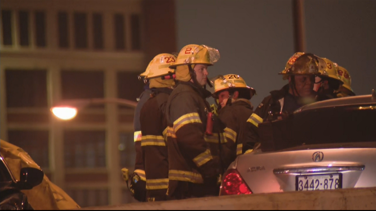 Serious Accident On Vine Street Expressway Leaves At Least One Person Injured