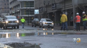 Large Water Main Break Causing Flooding, Traffic Problems In Downtown Wilmington