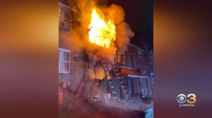 Firefighters Battle 2-Alarm Rowhome Fire In Darby