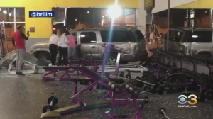 Driver Taken To Hospital After SUV Crashes Into Planet Fitness Gym In South Philadelphia