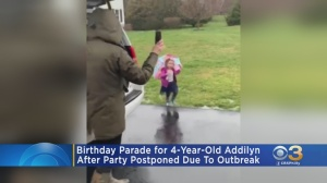 Family, Friends Hold 'Birthday Parade' For 4-Year-Old Chester County Girl After Party Postponed Due To Coronavirus Outbreak