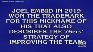 'Do A180': 'Jeopardy' Contestant's Botched Answer Gives Sixers Joel 'The Process' Embiid New Nickname