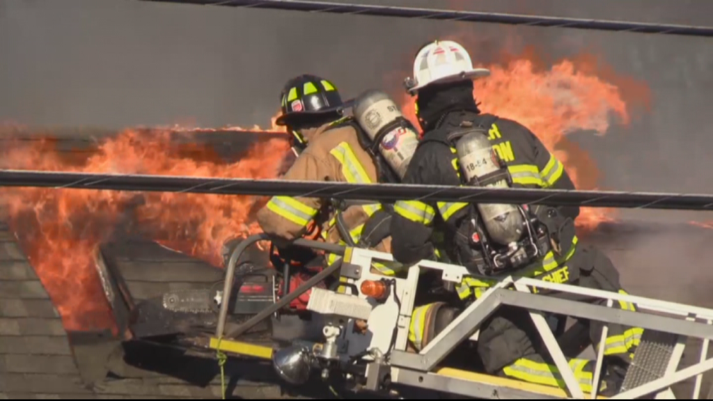 Fire Crews Battle Heavy Flames At Bubba's Potbelly Stove Restaurant In Quakertown