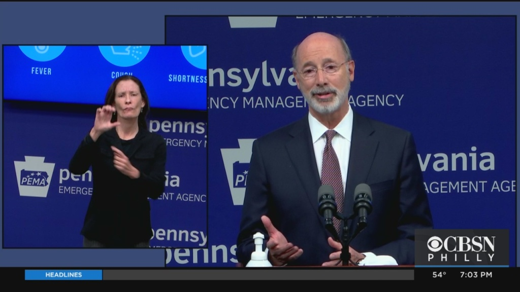 Coronavirus Pennsylvania: Gov. Tom Wolf Lays Out Color-Coded COVID-19 Reopening Plan
