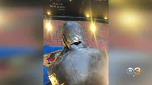 Delaware Law Enforcement Memorial In Dover Damaged With Axe, Delaware Flags Soaked In Urine