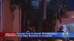 Man Injured In North Philadelphia House Fire