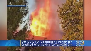 Off-Duty Pennsylvania Volunteer Firefighter Saves 12-Year-Old Girl From House Fire