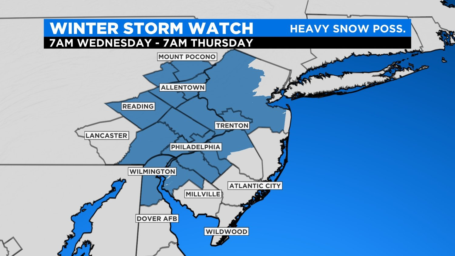 Philadelphia Weather Parts Of Region Could Possibly See 18 Inches Of Snow As Winter Storm Watch Issued For Wednesday Cbs Philly