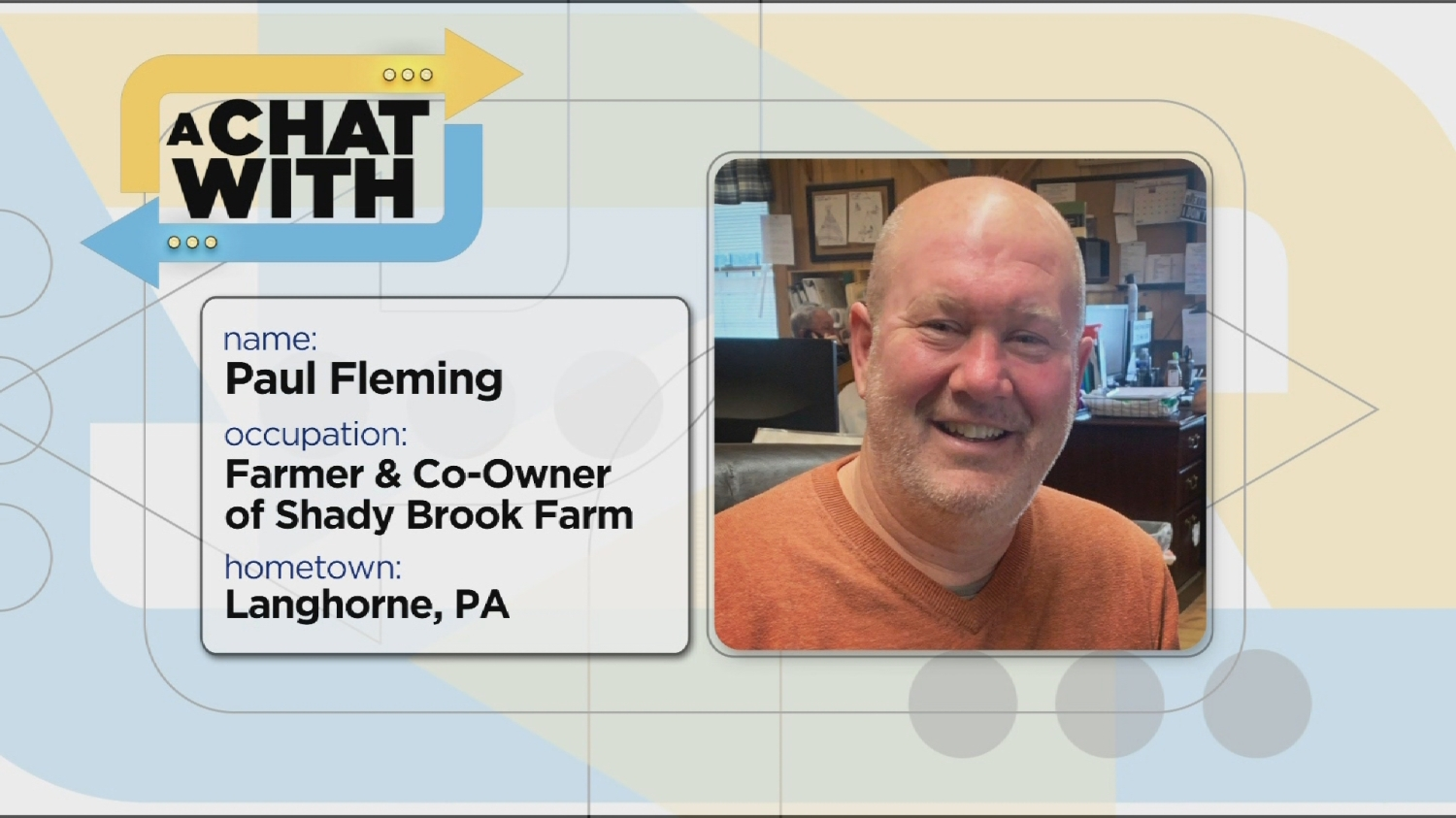A Chat With: Paul Fleming, A Fourth-Generation Farmer At Shady Brook Farm In Yardley