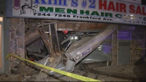 Philadelphia Police: Driver Taken To Hospital After Van Crashes Into Mayfair Hair Salon