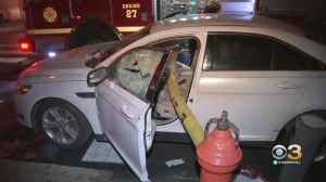 Firefighters Break Windows Of Illegally Parked Car To Battle Garage Fire In Strawberry Mansion