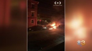 Philadelphia Police: Man Injured After Shot, Car Set On Fire In Fairhill