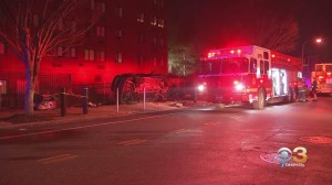 Driver Injured After Crashing Through Fence At Girard College In North Philadelphia