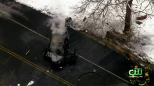 Driver Killed In Fiery Accident After Crashing Into Tree In Philadelphia's Fairmount Park