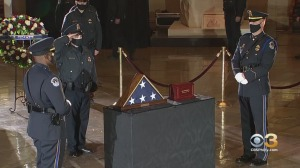 Bidens Pay Their Respects To Capitol Police Officer Brian Sicknick As Officer Lies In Honor At Capitol
