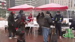 Snowy Sunday Didn't Stop Chosen 300 Ministries From Holding Service, Hot Meal In Love Park