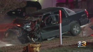Driver Injured After Car, Truck Collide In Willingboro