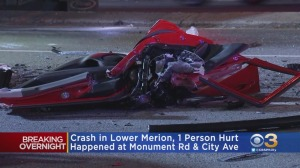 Violent Crash In Lower Merion Township Leaves 1 Person Critically Injured
