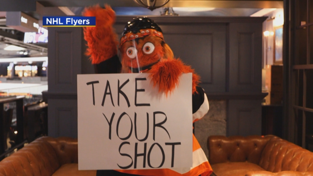 Philadelphia Flyers Launch 'Take Your Shot' Campaign To Help Encourage COVID-19 Vaccinations