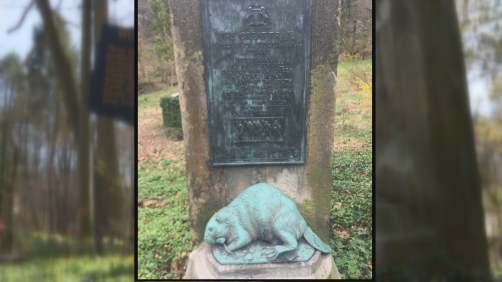 Pennsylvania State Police investigate theft of beaver statue, plaque in Delaware County – CBS Philly