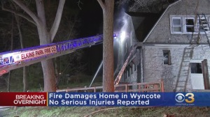 Massive Fire Damages Home In Wyncote