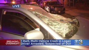 Suspected DUI Driver Arrested After Crashing Into Several Cars In Logan, Fleeing Scene: Philadelphia Police