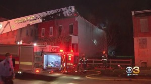 Firefighters Rush To Battle House Fire In Powelton