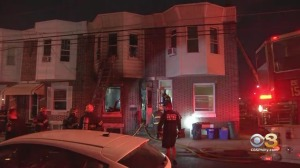 Firefighters Battle Rowhouse Fire In Frankford