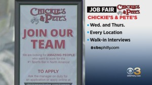 Chickie's & Pete's Holding Two-Day Job Fair