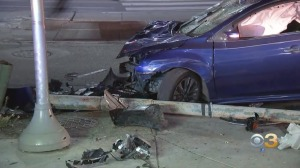 Driver Injured After Crashing Into Pole In West Philadelphia