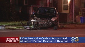At Least 1 Person Rushed To Hospital After Fiery 3-Vehicle Crash In Delaware County