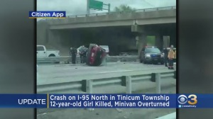 12-Year-Old Girl Killed, 4 Other Children Injured After Minivan Overturns On I-95 North In Tinicum Township
