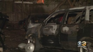 Firefighters Respond To Vehicle Fire In North Philadelphia
