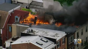 Large Flames Break Out At Building In Northern Liberties